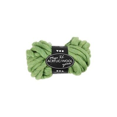 Chunky yarn of acrylic/wool, L: 15 m, lime green, mega, 300g [HOB-42166]
