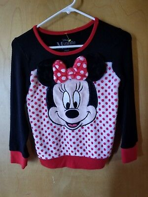 Disney Minnie Mouse Girls Top Size 7/8 M