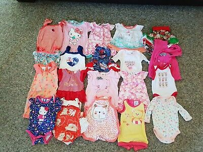 20 Lot Of Baby Girl Suits Size 0000 And 000