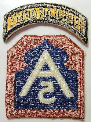 5th Army Shoulder Patch with REGULAR ARMY Tab