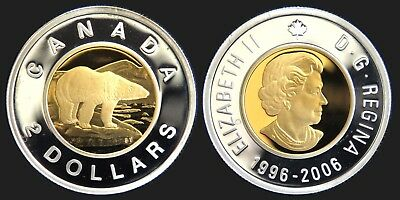 Canada $2 2006 Toonie RCM PROOF Silver Heavy Cameo Collector Coin