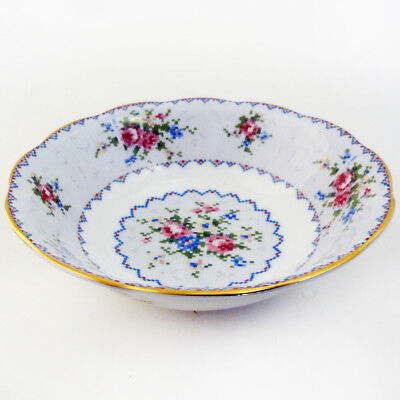 PETIT POINT by Royal Albert Cereal / Soup Bowl made England NEW NEVER USED 1934