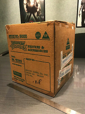 Playmates Vintage TMNT action figure empty store shipping case! Rare! Unusual!