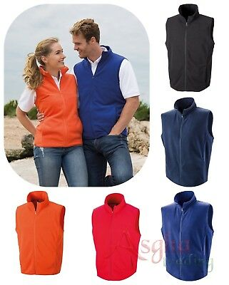 Result Microfleece GILET Lightweight BODYWARMER Unisex Sleeveless Fleece XS-3XL
