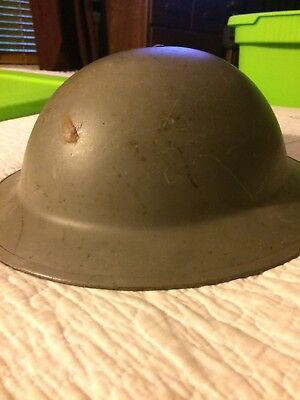 WWI US Army Doughboy Helmet With Liner; great condition