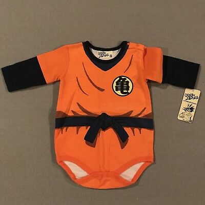 DRAGON BALL X Infant Costume Bodysuit Outfit 100% Cotton 12 Months 24 Lbs. NWT