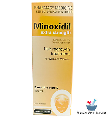 Minoxidil Extra Strength 5% 180ml 3 MONTH SUPPLY REGAINE HAIR LOSS TREATMENT