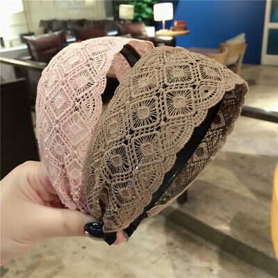 Women's Lace Headband Hairband Wide Alice Hair Band Hoop Accessories Head Band