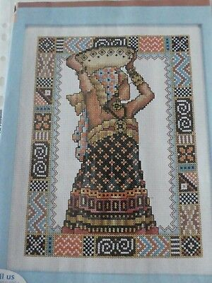 Counted Cross Stitch Chart / Pattern - African Lady Picture