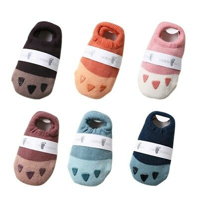 Newborn Baby Cotton Socks Boys Girl Anti-slip Slipper Toddler Shoes Socks 6-24M