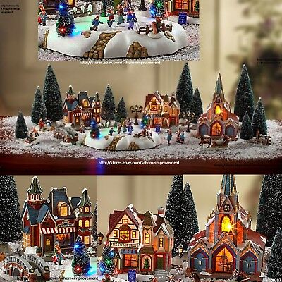 Christmas Village 30-Piece Musical Light-Up Set Bring Magic of Holiday into Home