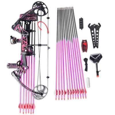 Topoint M1 10-50Lb Compound Bow & Arrow Hunting Target Archery Cnc Dual Cam