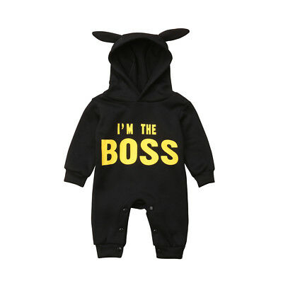 Newborn Infant Baby Boy Girl Winter Warm Romper Jumpsuit Hooded Outfit Clothes