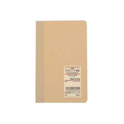 Muji A6 Notebook Journal Diary Blank Paper Gift Sketchbook Kraft Cover 40 pages