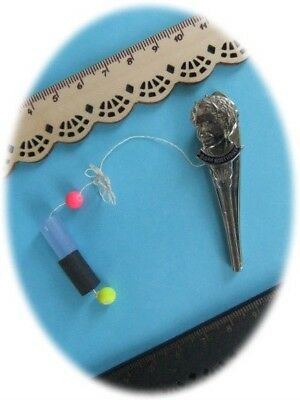 Old French Tatting Shuttle *Queen's 80th Birthday* Silver Plated Frivolite Rare