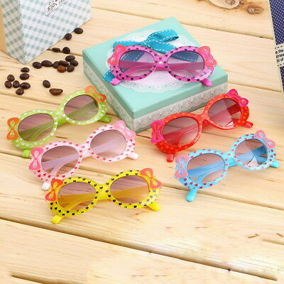 Baby Kids Children Sun Glasses Plastic Sunglasses Girls Bow Eyewear DG