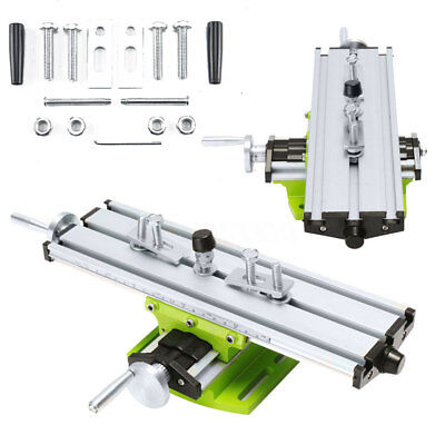 Compound Worktable Cross Slide Bench Drilling Milling Vise Working Table Set UK