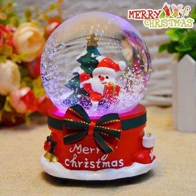 Christmas gift crystal ball music box with lights children's gifts  ornaments