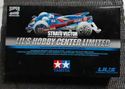 Tamiya 1/32 LIMITED Mini 4WD #92352 Strato Vector Clear Blue Special