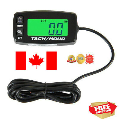 Searon Backlit Digital Resettable Inductive Tacho Hour Meter Tachometer For Moto