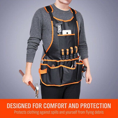 Gardening Oxford Cloth Apron Adjustable Professional With Tool Pockets
