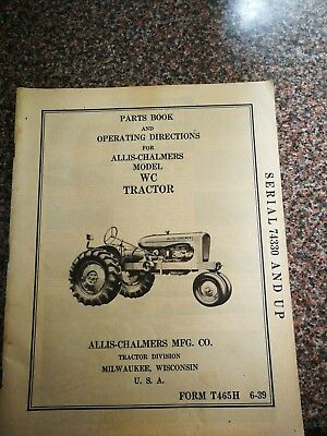Allis Chalmers WC Parts Book