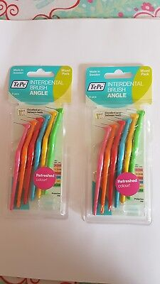 TePe Interdental Angle brushes 6 pieces  x2  Assorted sizes