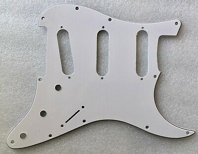 Stratocaster Reverse Bridge Hendrix SSS Pickguard 11 hole US Strat: many colours