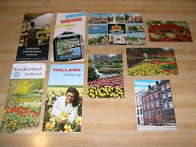 Amsterdam Holland Netherlands travel ephemera lot travel guides and post cards