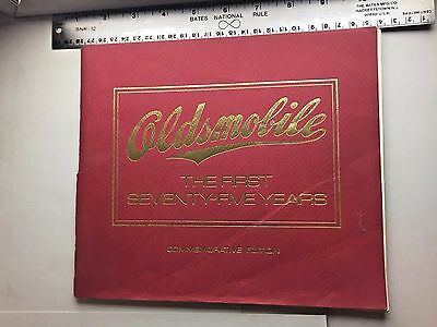 1972 OLDSMOBILE THE FIRST 75 YEARS Booklet