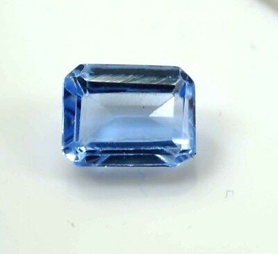 GGL Certified 2.20 Ct Emerald Cut Natural Blue Aquamarine Transparent Gemstone