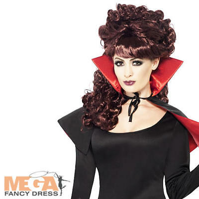 Mini Vampire Cape & Collar Ladies Fancy Dress Womens Halloween Costume Accessory
