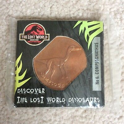 Jurassic Park The Lost World Collectors Coin By Tetleys Tea Compsognathus No. 6