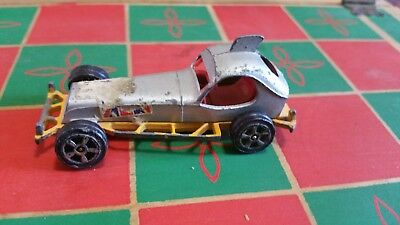 Vintage 1969 Corgi Juniors Super Stock Car Whizzwheels Yellow - Good