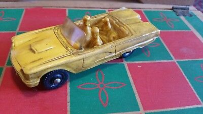 Tomte Laerdal no. 16 Ford Thunderbird Vynil Stavanger Norway Model Car (Gelb)