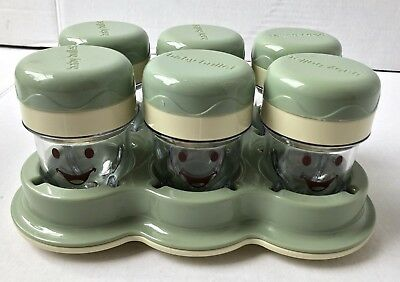 New Baby Bullet Lot 6 Storage Cups Date Dial Containers  + With Tray