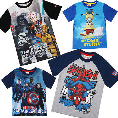 Marvel - Star Wars - Minions - Lego - Boys - T-shirts - Sale