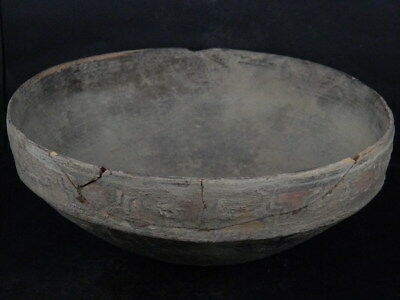Ancient Large Size Teracotta Painted Bowl Indus Valley 2500 BC  NO RESERV #iK521