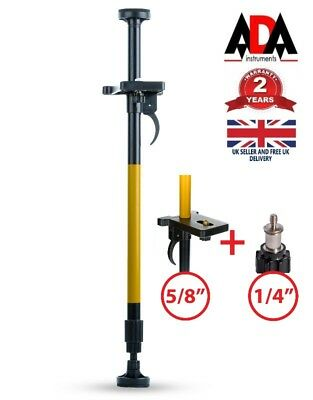 Laser Level Pole Floor to Ceiling 5/8″ 1/4″ Screw Support Bar Stand Telescopic