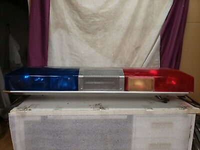 Vintage 48 Inch Red/blue Smith And Wesson Rotating Police/fire Light Bar