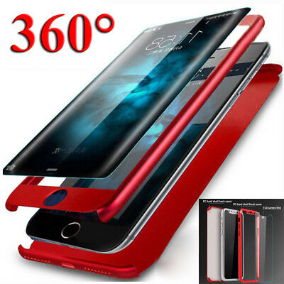 360° Full Protective Hard Case Cover for Xiaomi Pocophone F1+Tempered Glass Film