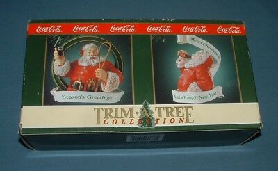 Coca Cola Trim A Tree Ornaments #1 - 1992 - Mib