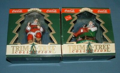 Coca Cola Trim A Tree Ornaments #2 - 1990 - Mib