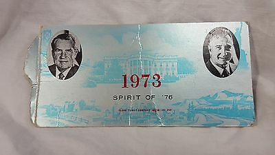 Richard Nixon 1973 Inauguration Ceremony Ticket White House Side $50 Front Rows
