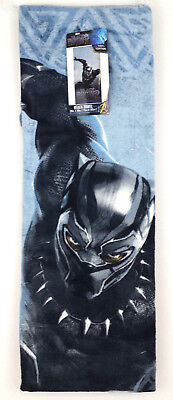 Marvel Black Panther  Boys Beach Towel 28in W  x 58in L  100% Cotton New