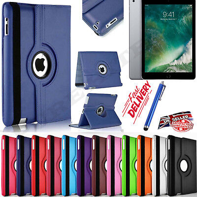 100%Leather 360 Degree Rotating Smart Stand Case Cover For All Apple IPAD Models