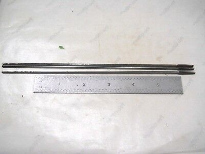 """3 - New English Made Rtc 6-32 Carbon Steel Pulley Taps 8"""" Long"""