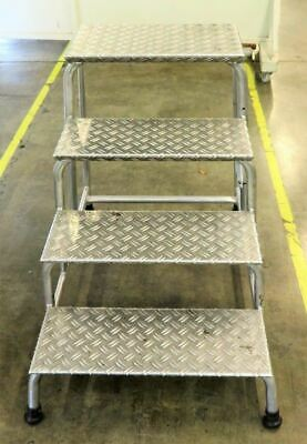 Haca Leitern Rigid 4 Step Access Inspection Ladder Tritt 7656/04 Aluminum Steps