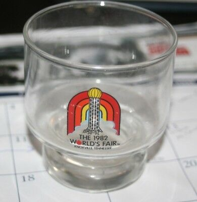 1982 Worlds Fair Knoxville Tennesse Glass  Vintage