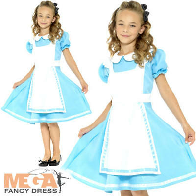 Alice Girls Fancy Dress Fairytale Story Book Day Week Kids Childs Costume Outfit